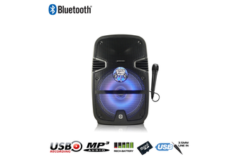 Panacom S-10 Sound Stage Bluetooth Karaoke Powered Speaker (20 Watts - RMS) + 1 Wired Microphone