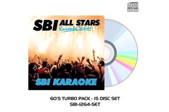 60's Turbo Pack - 15 Disc Set - CD+G - SBI Karaoke All Stars