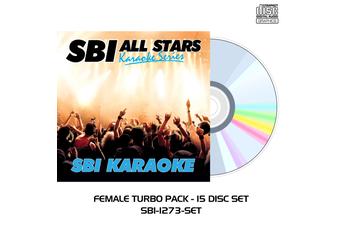Female Turbo Pack - 15 Disc Set - CD+G - SBI Karaoke All Stars