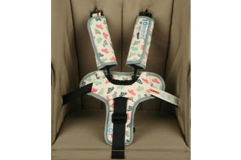 Keep Me Cosy® Pram/Car Seat Harness Strap Covers + Buckle Cosy - Woodland Friends