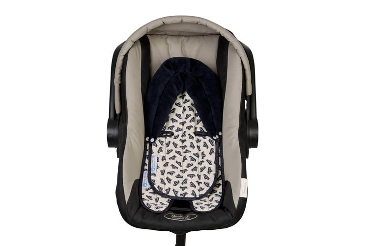 Keep Me Cosy® Pram & Car Seat Baby Head Support - Navy Boat