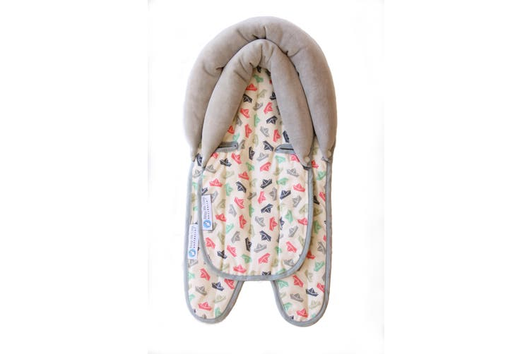 Keep Me Cosy® Pram & Car Seat Baby Head Support  - Paper Boat