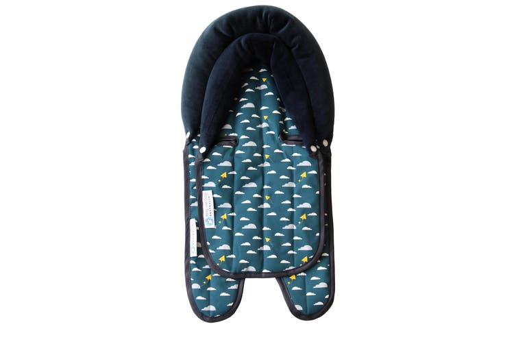 Keep Me Cosy® Pram & Car Seat Baby Head Support - Playful Plane