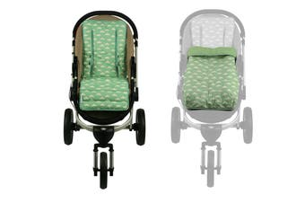 Keep Me Cosy® Pram Liner + Footmuff 2 in 1 Set (Infant) - Cloud Mint