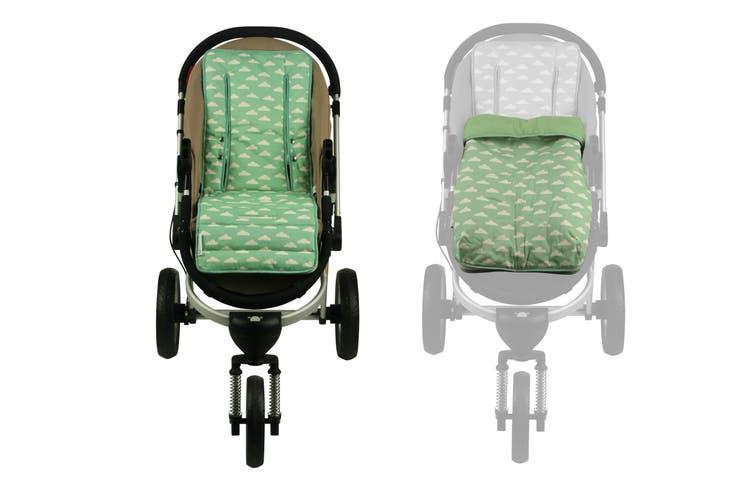 Keep Me Cosy® Pram Liner + Footmuff 2 in 1 Set (Infant) - Cloud Mint