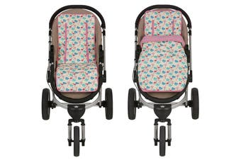 Keep Me Cosy® Pram Liner + Footmuff 2 in 1 Set (Infant) - Flamingo