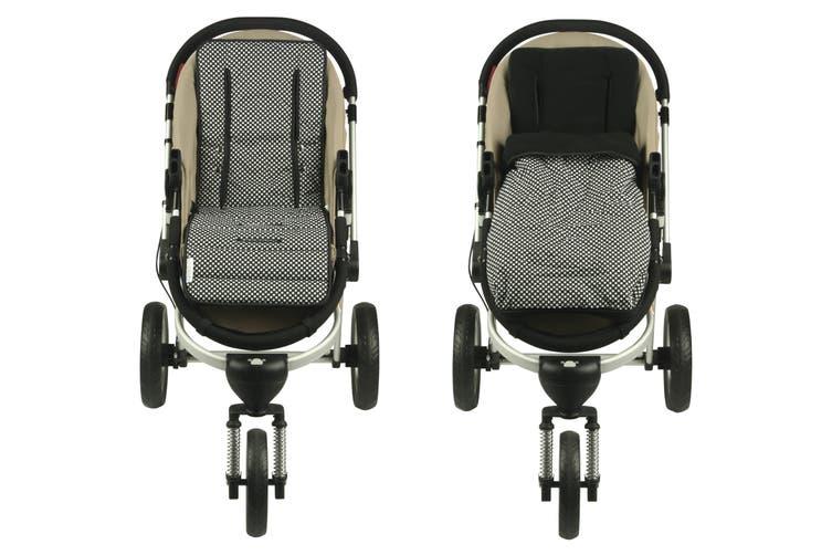 Keep Me Cosy® Pram Liner + Footmuff 2 in 1 Set (Infant) - Ink Spot
