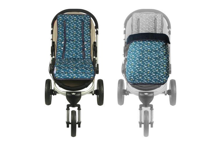 Keep Me Cosy® Pram Liner + Footmuff 2 in 1 Set (Infant) - Playful Plane