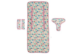 Keep Me Cosy® Universal Pram Liner Set + Harness Covers- Flamingo