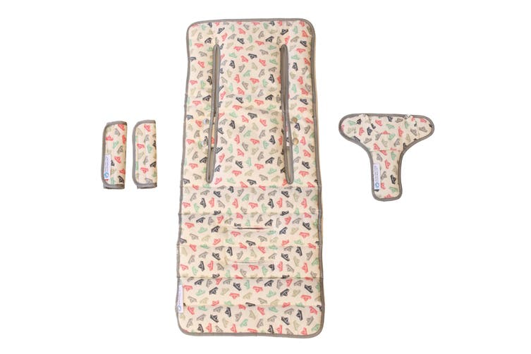 Keep Me Cosy® Universal Pram Liner Set + Harness Covers - Paper Boat