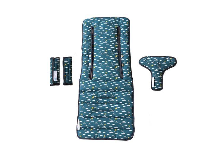 Keep Me Cosy® Universal Pram Liner Set + Harness Covers- Playful Plane