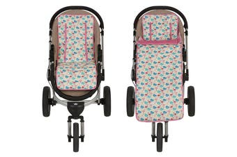Keep Me Cosy® Pram Liner + Footmuff 2 in 1 Set (Toddler) - Flamingo