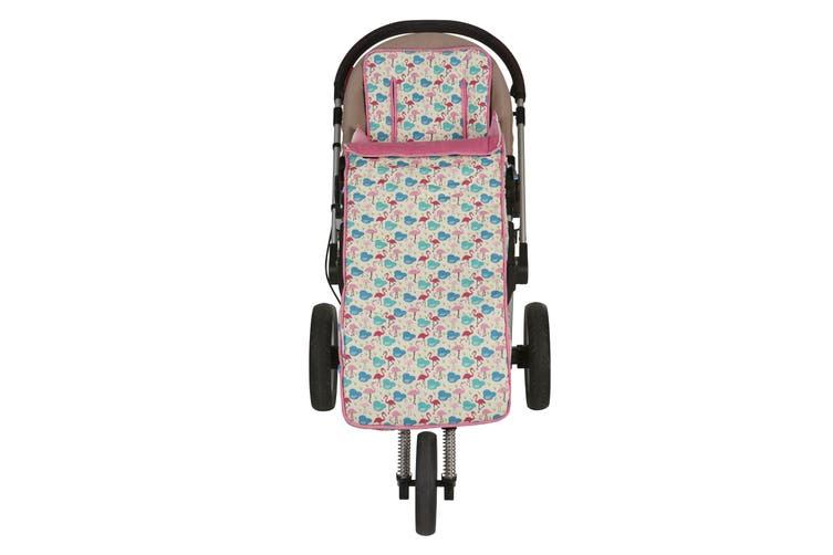 Keep Me Cosy® Pram Liner + Footmuff 2 in 1 Set (Toddler) - Flamingo