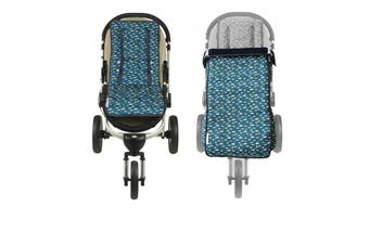 Keep Me Cosy® Pram Liner + Footmuff 2 in 1 Set (Toddler) - Playful Plane