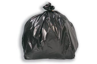 Black Biodegradable Plastic Bin Bags - 800mm - 82 Litre - Bin Liner, Waste Bags, Rubbish Bags