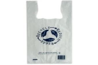 Clear Plastic Re-Usable Carry Bags - 240mm - 450mm - Medium - Packs - Retail Supplies, Checkout Bags, Food Packaging