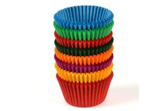 Assorted Colours Paper Patty Pan - 37mm Base - 26mm - Bakeware, Cookware