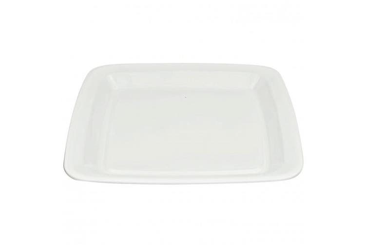 White Plastic Square Platters - 400mm - Packs - Food Service, Takeaway, Party Tableware