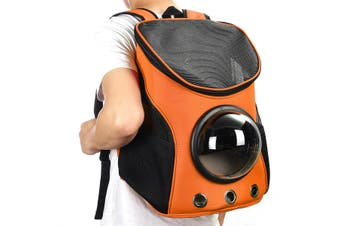 Breathable Astronaut Pet Cat Puppy Carrier Travel Bag Space Capsule Backpack Bag ORANGE