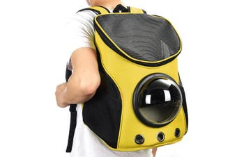 Breathable Astronaut Pet Cat Puppy Carrier Travel Bag Space Capsule Backpack Bag YELLOW