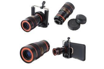 8 x Zoom Optical Lens For Mobile Phone Telescope black