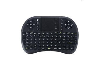 500-RF 2.4G Wireless English Mini Keyboard Touchpad Air Mouse Airmouse for TV Box Mini PC black