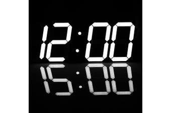 Super Large Digital Wall Clocks LED Alarm Clock Countdown Timer Remote Control Oversize Jumbo Number LED Display Snooze white