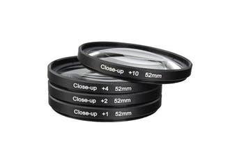 52mm Macro Close Up Filter Lens Kit +1 +2 +4 +10 for Canon Nikon DSLR SLR Camera