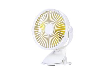 Portable Clip Fan 360 Degrees Rotation USB Mini Stripe Fan Rechargeable Air Cooling Fan Clip Desktop Fan Dual Use Portable Home Student Office Fan