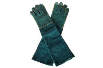 1Pair Cowhide Electric Welding Gloves Leather Gear Mitten Long Heat Protect Warm