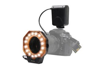 SL-103C Macro Ring Flash Light LED GN15 6800K Diameter 52 55 58 62 67 72 77mm Adapter Ring