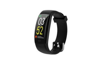 F64C Single Touch Color Screen Wristband Heart Rate Monitor Information Remind Smart Watch