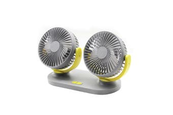 Car Fan USB Charging Plug 3 Levels Power 360 Degree Adjustable