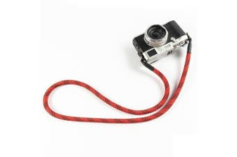 304 Steel Ring Buckle Nylon Enthnic Style Camera Neck Strap for Leica Canon Fuji for Nikon for Sony RED&BLACK