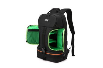Side Open Travel Carry Camera Bag Backpack for Canon for Nikon DSLR Camera Tripod Lens Flash Tablet Laptop Pad GREEN