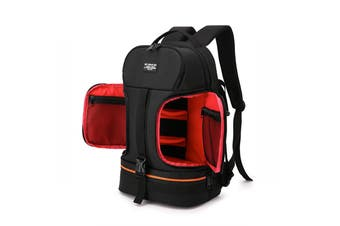 Side Open Travel Carry Camera Bag Backpack for Canon for Nikon DSLR Camera Tripod Lens Flash Tablet Laptop Pad RED