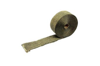 Exhaust Heat Wrap Insulation Pipe Tape Titanium Glass Fiber With 6 Stainless Ties