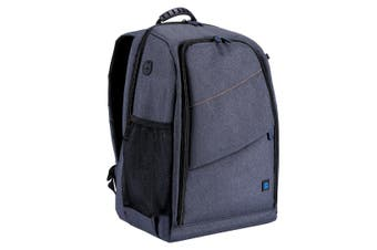 PU5011 Outdoor Portable Waterproof Scratch-proof Dual Shoulders Backpack Camera Bag GRAY