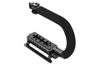 PKT3013 C-shape Stabilizer Microphone Video Light Vlog Set for DSLR Sport Action Camera Smartphone