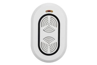 Mini Portable Ultrasonic Pest Repellent Cleaner Electronic Bug Repeller Anti-Dust Mite Controller WHITE COLOR