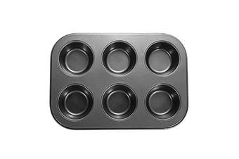 6 Holes Stainles Steel Non-stick Muffin Cake Baking Oven Pan Cookie Tray Cup Cake Mold