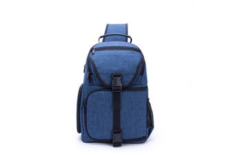 Water-Resistant Anti-theft Shockproof Travel Carry Sling Bag Backpack for DSLR Camera Lens Tripod Video Light Stand BLUE