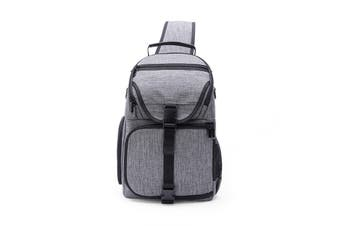 Water-Resistant Anti-theft Shockproof Travel Carry Sling Bag Backpack for DSLR Camera Lens Tripod Video Light Stand GRAY