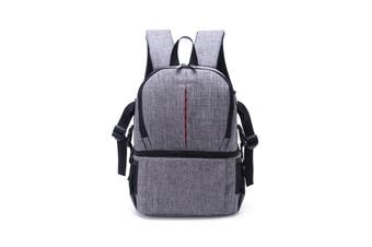 Water-resistant Anti-Theft Camera Bag Backpack Charge Earphone Hole for DSLR Camera Lens Tripod grey