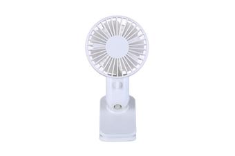 WT-F5 Mini Clip Fan 120 Degrees Rotation USB Charging Fan Air Cooling Fan Clip Desktop Fan Dual Use Portable Home Student Office Fan WHITE