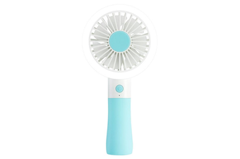 D10-1 Portable Mini USB Fan LED light Fan Handheld Rechargeable Air Cooler Silent Cooling Fan For Home Office Student Dormitory Outdoors Travelling BLUE