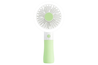 D10-1 Portable Mini USB Fan LED light Fan Handheld Rechargeable Air Cooler Silent Cooling Fan For Home Office Student Dormitory Outdoors Travelling GREEN