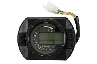 Motorcycle LCD Digital Odometer Speedometer Tachometer With 7 Colors Background