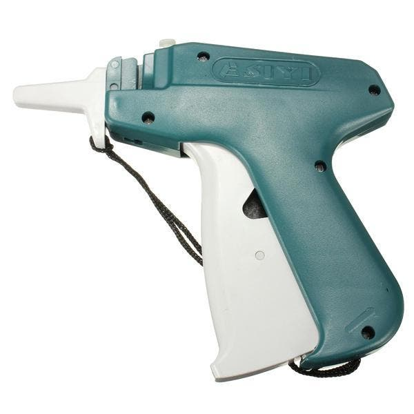 Price Label Tag Gun+1 Tagging+1000 Barbs+5 Extra Steel Needles Description : Garment Clothes Price Label Tag Gun+1 Tagging+1000 Barbs+5 Extra Steel Needles   Material : Durable plastic  Package includes1 Tag Gun with 5 Needles & 1000 Barbs.  Package includes :  1 x Price Label Tag Gun