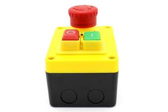 KEDU KJD17D-2 16A 220V Electromagnetic Emergency Safety Pushbutton Touch Switch